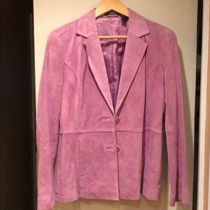 100% suede Liz Claiborne jacket.